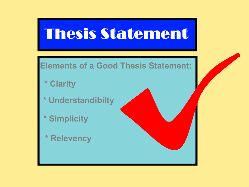 write good essay thesis statement