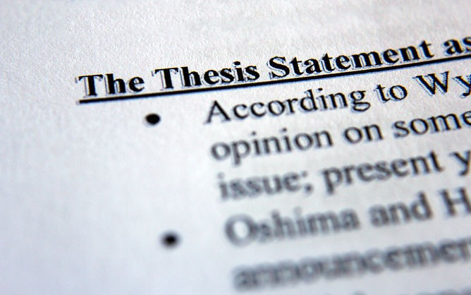 How do you write a thesis statement