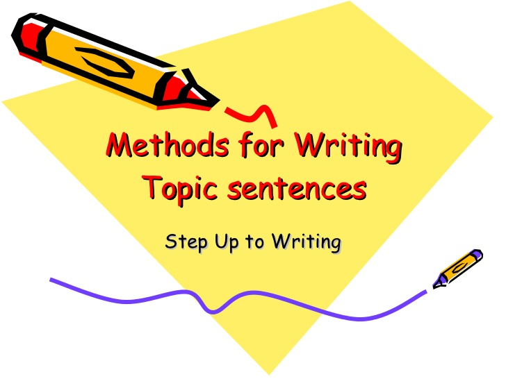 Writing Topic Sentences Worksheets