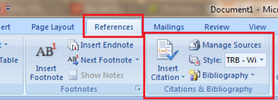 [How To]: Use Microsoft Word Reference Feature for Bibliography and Citation Pages